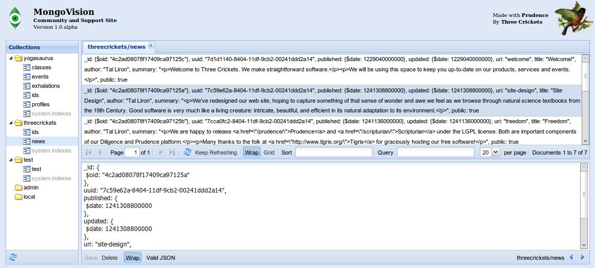 Admin UIs — MongoDB Manual