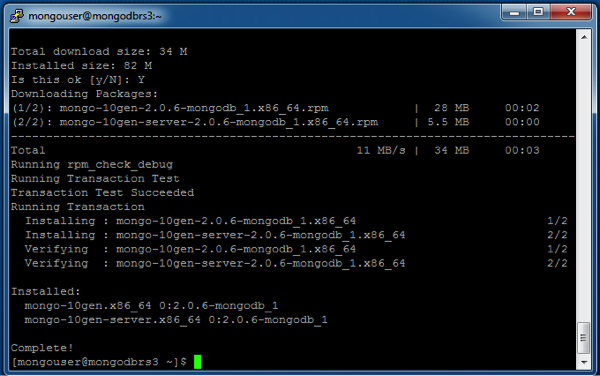 how to find mongodb version in linux
