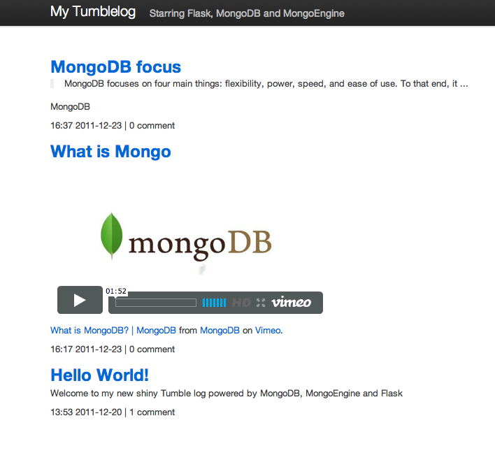 Flashmongoengine mongodb manual imagesflask mongoengine tumblelogg malvernweather Choice Image